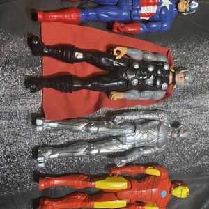 Toy Bundle Superhero DC Comics Iron Man Captain America Thor Ultron for Sale in Sheridan, OR