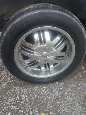 20 inch 6 lug chrome and tires for Sale in Smyrna, TN