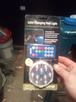 Color changing pool light for Sale in West Columbia, SC