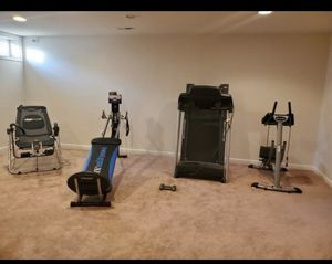 Gym Equipment: Ab Machine, Treadmill , Total Gym, Ab and back machine for Sale in Lovettsville, VA