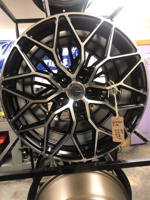BRAND NEW set (4) Black and Machined 18 inch Rims for only $600 !!! for Sale in Joint Base Lewis-McChord, WA