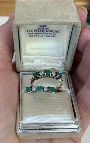 Emerald and Diamond Earrings for Sale in Tacoma, WA