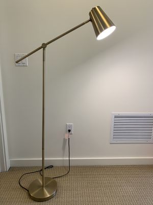 Project 62 Cantilever Floor Lamp Brass for Sale in Mercer Island, WA