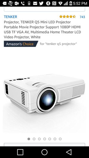 Tenker Q5 1080p Multimedia LED Projector for Sale in Greenville, SC