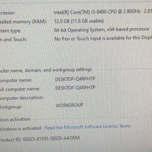 Dell Inspiron 3670 Core I5 8400 12gb Ram 256 NVMe Ssd WiFi Bluetooth Windows 10 for Sale in San Leandro, CA