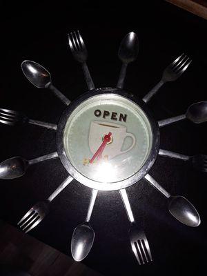 Coffee kitchen decor clock for Sale in Huntington Park, CA