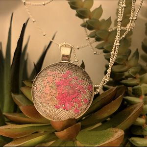 Pressed flower *handmade* pendant necklace for Sale in Lakeside, CA