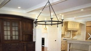 Bronze round light fixture for Sale in Weston, MA
