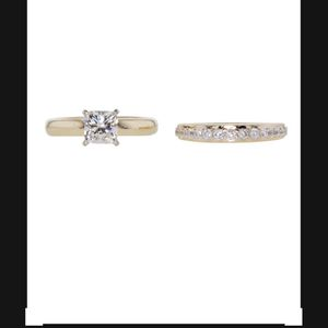 1 Carat Diamond on 14k Yellow Gold Band and Wedding Band for Sale in Aurora, CO