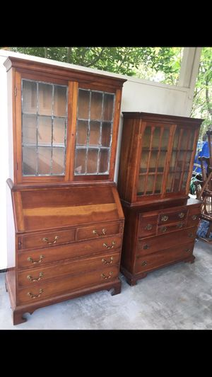 STICKLEY Solid Cherry 1940s vintage secretary desk w bookcase top for Sale in Portland, OR