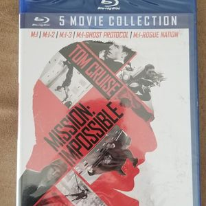 Brand New Mission Impossible Movies 1 Through 5 Blu Ray Collection for Sale in Mount Prospect, IL