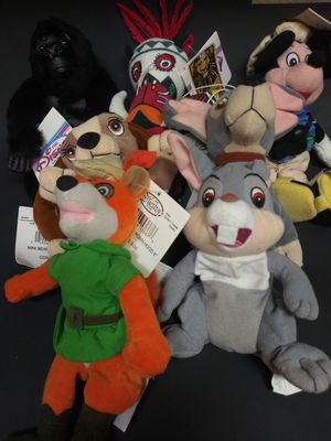 7 Disney Beanie Figures Mickey Thumper Robin Hood for Sale in Parkdale, OH