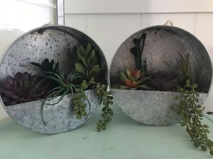 2 artificial hanging succulents for Sale in Fresno, CA