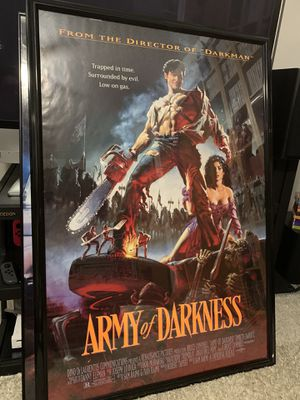Army of Darkness 27x40 double-sided theatrical poster from the 1990s for Sale in Arlington, TX