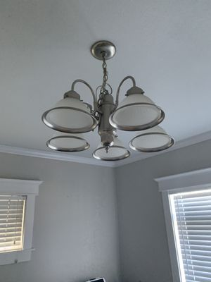 Brushed nickel light fixture for Sale in Tacoma, WA