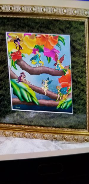 DISNEY PIN FRAMED TINKERBELL PIN SET for Sale in Beaumont, CA