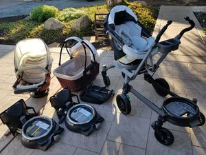 Orbit G2 G3 travel system double stroller helix extension/ bassinet,carseat,toddler seat.. for Sale in Bonita, CA
