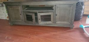 Large wooden tv Grey Stand for Sale in Philadelphia, PA