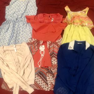 Formal Summer Flare Bundle - (3) Dresses, (1) Cardigan, (1) Dress Shirt. Sizes youth 14/16 (XL) and shirt Adult Small. Free Costume Pearl Necklace for Sale in Columbia, MD