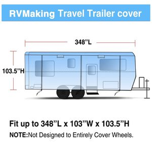 RV Making Travel Trailer Cover for Sale in Cypress, TX