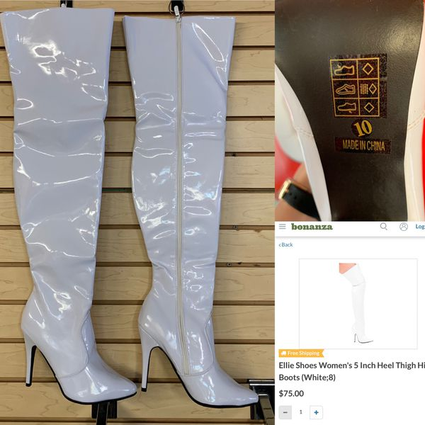 Ellie 5in Thigh high boots with zipper Sz10