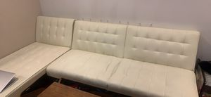 Faux White Leather Couch for Sale in Santa Monica, CA
