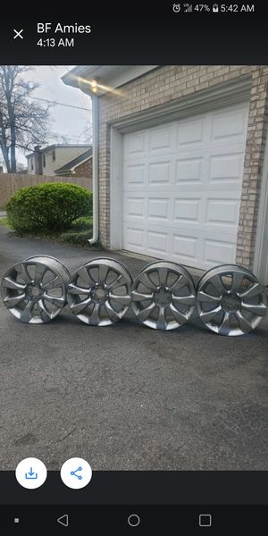 Infinit 5 lug rims great shape. Have center caps if need 2 add for Sale in Lebanon, TN