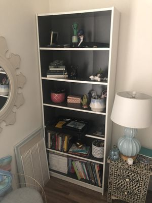 Ikea Billy Bookcase - White with Charcoal - Great Condition for Sale in Pasadena, CA