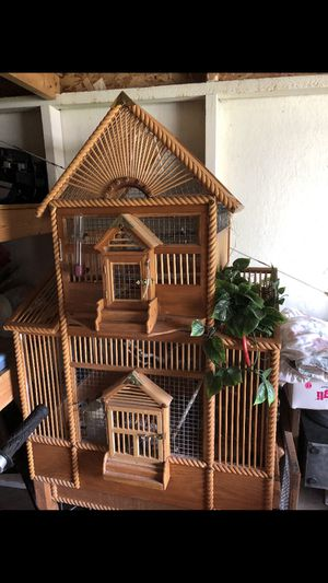 Handcrafted vintage Beautiful bird cage for Sale in Everett, WA