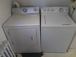 Washer and dryer pair need gone today best offer takes them for Sale in Edgewater Park, NJ