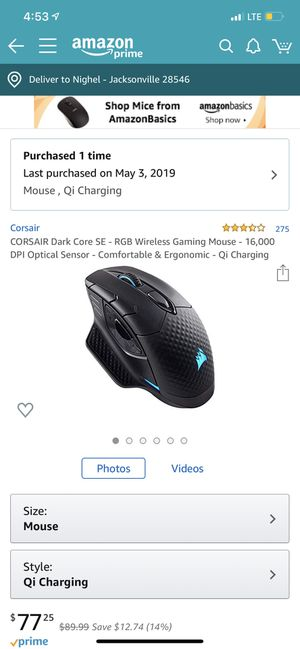 Wireless gaming mouse for Corsair! for Sale in Jacksonville, NC
