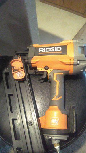 Ridgid nail gun 21round head nail for Sale in Fairview, OR