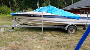 18 foot Bayliner boat no motor gal.trailer boat not much good trailer is in good shape for Sale in Elma, WA