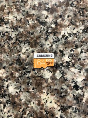 Micro sd card 64gb samsung evo for Sale in Chula Vista, CA