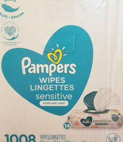 Pampers Sensitive Wipes 1008 $32 Per Box for Sale in Los Angeles,  CA