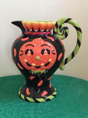 Delightful Detailed Halloween Pitcher Ceramic pumpkin candy corn for Sale in Berlin, MD