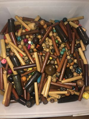 Box of wooden beads for Sale in St. Louis, MO