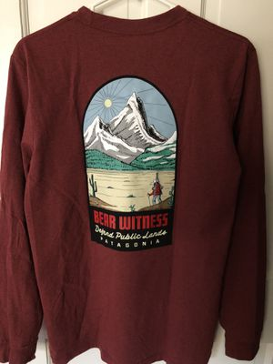 Patagonia Bear Witness Long Sleeve Special Edition Responsibili-Tee Shirt Size Small for Sale in Lawndale, CA