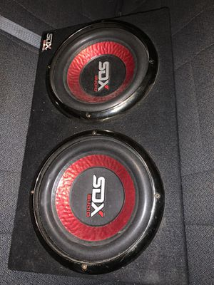 Subwoofers SDX with amplificador kicker like new for Sale in Trenton, NJ