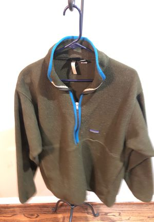 VINTAGE— Patagonia Synchilla long-sleeved 1/2 zip fleece pullover for Sale in Richardson, TX