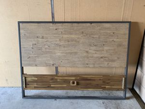 Queen bed headboard and matching frame for Sale in Huntington Beach, CA