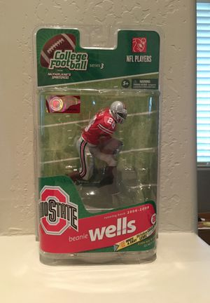 """Ohio State Chris """"Beanie"""" Wells McFarlane action figure for Sale in Queen Creek, AZ"""