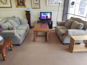 Sofa couch and loveseat set microfiber for Sale in Tulsa, OK