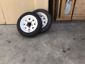 Trailer rims and tires tires for Sale in Long Beach, CA