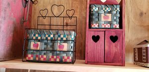 Wooden apple shelves with baskets for Sale in Farmville, VA