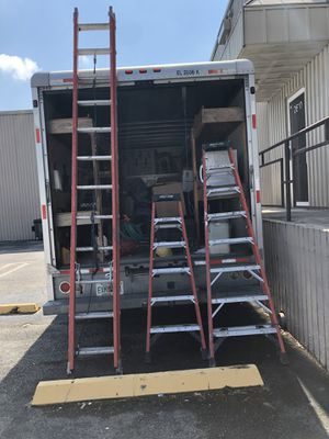 Werner 3 ladders 8', 12' and 24' ...300 pounds for Sale in Miami, FL