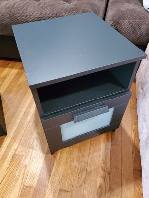 "BRIMNES Nightstand, black15 3/8x16 1/8 "" for Sale in UNIVERSITY PA, MD"