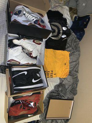 Jordan Nike bape yeezy for Sale in San Jose, CA