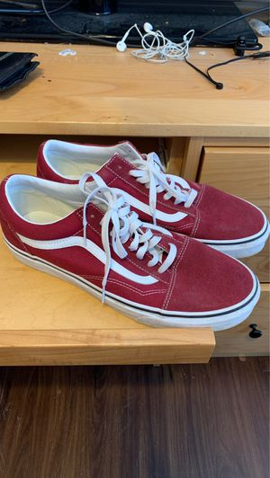 Men's Maroon Vans Size 11 for Sale in Iowa City, IA