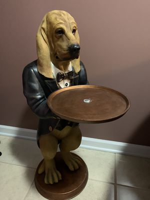 Hound dog butler statue for Sale in Hodgkins, IL